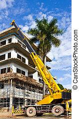 construction crane - yellow construction crane for heavy...