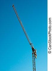 yellow construction crane