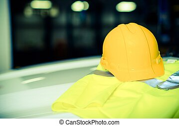 Yellow Construction Helmet