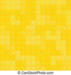 Yellow constructor blocks seamless pattern
