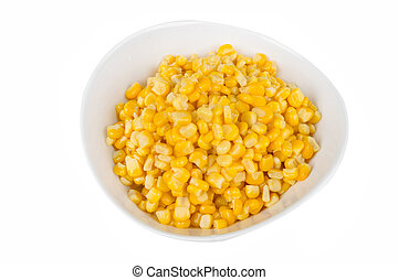 yellow corn in a bowl