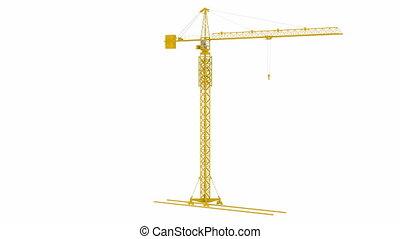 Yellow Crane Tower rotates around its axis