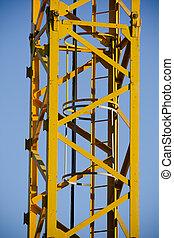 yellow crane, tower