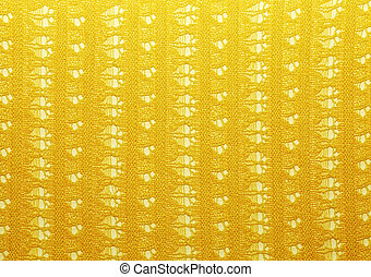 Yellow crochet fabric for background