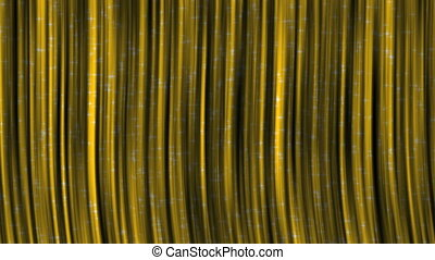 Yellow Curtains with Particles.