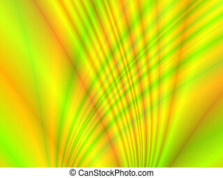Yellow Curves - Fractal rendition of yellow curves back...