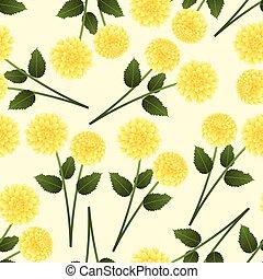 Yellow Dahlia on Beige Ivory Background