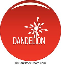 Yellow dandelion logo icon vector red