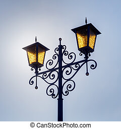 yellow decorative lantern