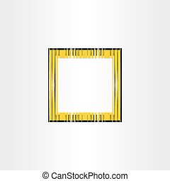 yellow decorative vector frame background