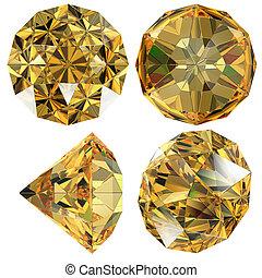 Yellow Diamond gem isolated
