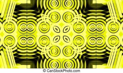 yellow disco circle and round shape