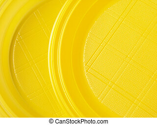 yellow disposable dishes