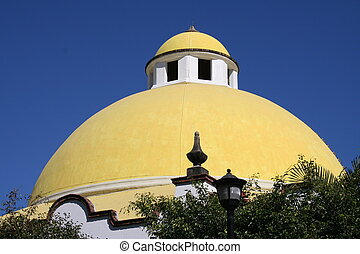 Yellow Dome of Mexico Resort
