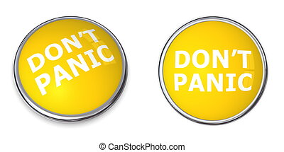 Yellow Don't Panic Button