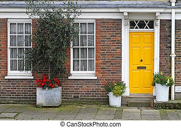 Yellow door home