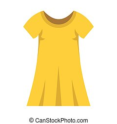 Yellow dress fashion clothes for modern woman