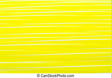 Yellow drinking straw with white stripe