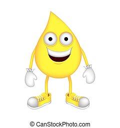 yellow drop cartoon drop icon image