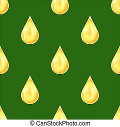 Yellow Drops Seamless Pattern