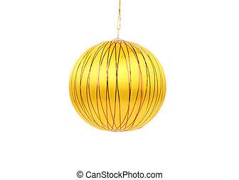 Yellow dull christmas ball.
