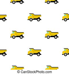 Yellow dump truck pattern flat