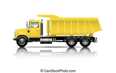 yellow dumper
