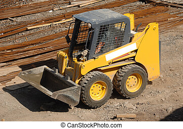 Yellow earth mover  - Small compact yellow eath mover
