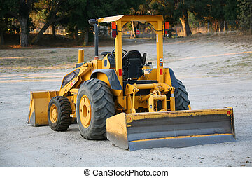 Yellow Earthmover Construction Machinery