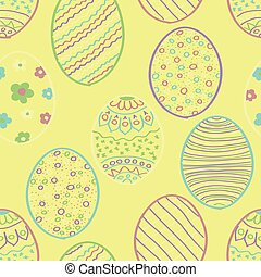 Yellow Easter Seamless