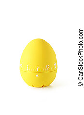 Yellow egg timer isolated on white