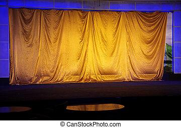yellow elegant theater
