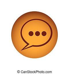yellow emblem chat bubble icon