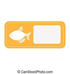 yellow emblem fish icon