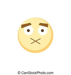 Yellow emoji icon for app game, ui or web design template. Vector emotion sign eps10