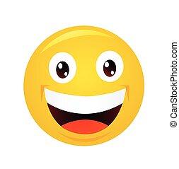 Yellow emoticon cartoon character