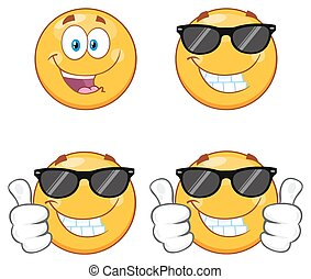 Yellow Emoticons Collection Set