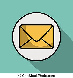 Yellow envelope icon