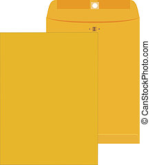 Yellow envelope - Large new yellow envelope with the front...