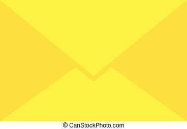 Yellow envelope vector
