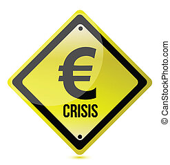 yellow euro crisis sign