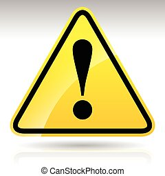 Yellow Exclamation Mark Sign - Caution, Warning Attention Sign      Yellow Exclamation Mark Sign - Caution, Warning Attention Sign
