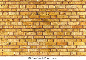 Yellow exterior brick wall