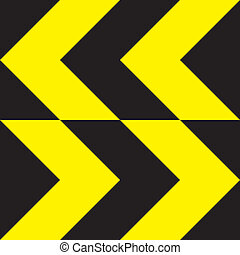 Yellow extreme direction change sign bidirectional
