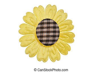 Yellow fabric flower for clothes