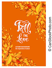 Yellow fall card