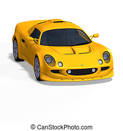 yellow fantasy racing car - racing and rallye car fantasy...