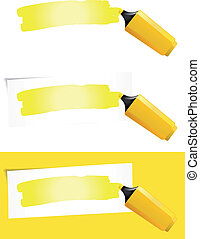 Yellow Felt Tip Pen - Illustration of a yellow felt tip pen ...