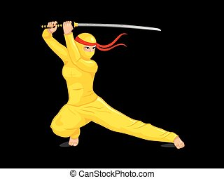 Yellow female ninja