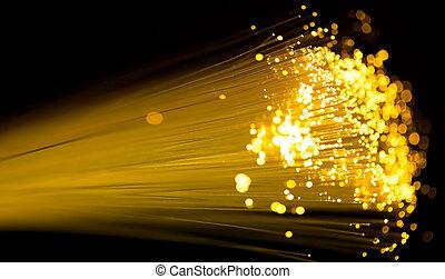 fiber optics - yellow fiber optics cable close up shot